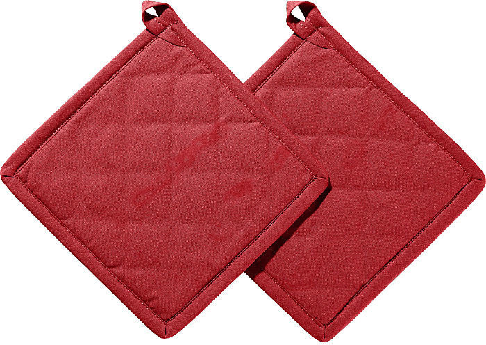 REDBEST Topflappen Set 2-teilig 20 x 20 cm rot/rot