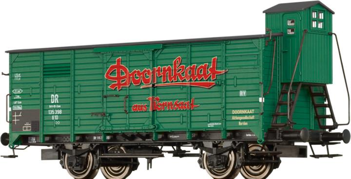 """Brawa Gedeckter Güterwagen G10 """"Doornkaat"""" der DB (49091)"""