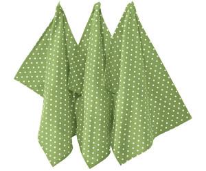 REDBEST Geschirrtuch Punkte Set 3-teilig 50 x 70 cm grün