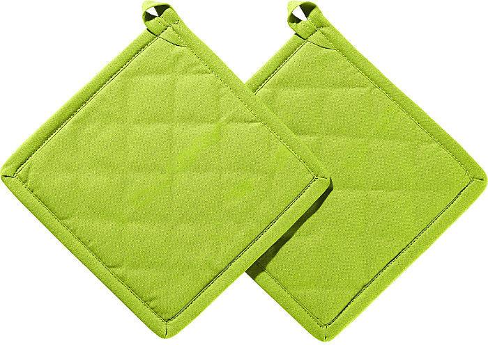 REDBEST Topflappen Set 2-teilig 20 x 20 cm grün/grün