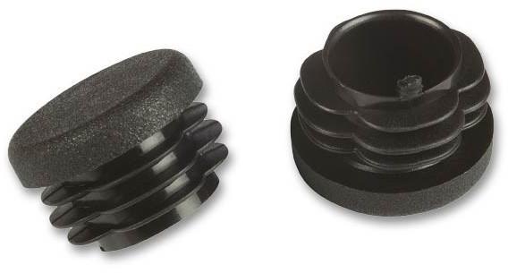 Fix-o-moll Rohrstopfen rund 25 mm schwarz VE 50