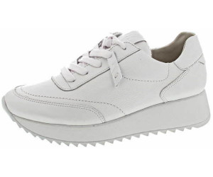 Paul Green Sneaker 4946 008 Weiß Glatt Leder Halbschuh Schnürung Freizeit