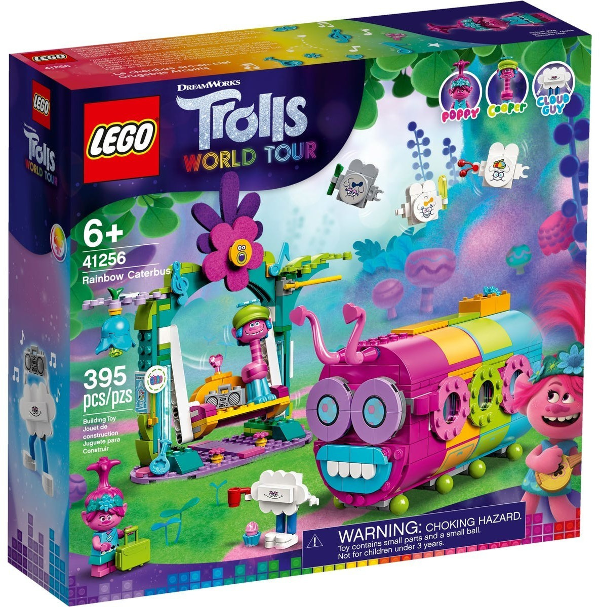 LEGO Trolls - Le bus chenille arc-en-ciel (41256)