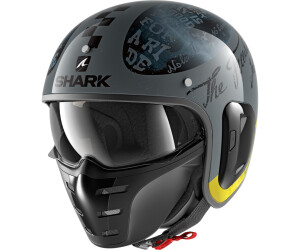 M Schwarz Shark Motorradhelm S-DRAK BLANK BLK