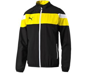Puma Spirit II Woven Trainingsjacke Kinder schwarz/gelb