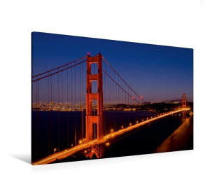 Calvendo Textil-Leinwand quer Golden Gate Bridge 120 cm x 80 cm