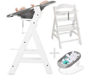 Hauck Alpha+ weiß - Newborn Set - Neugeboreneneinsatz & Wippe