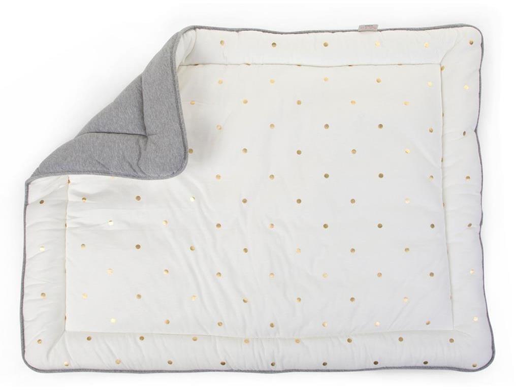Childwood Laufgittereinlage Jersey grey + gold dots