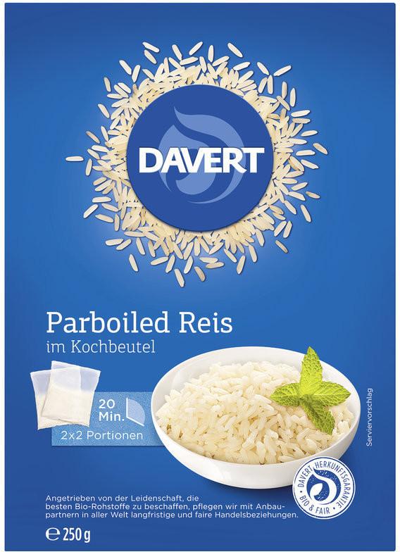 Davert Parboiled Reis im Kochbeutel (250g)
