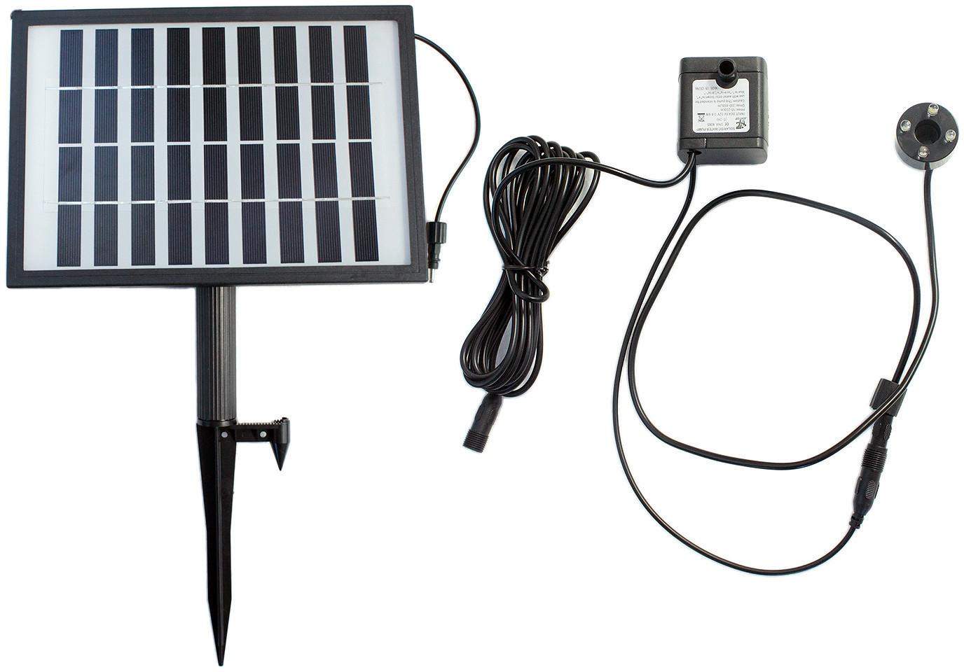 Arnusa Solar Pumpe mit Akku und LED 250l/h