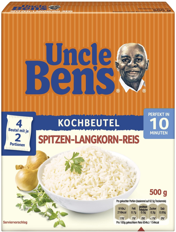 Uncle Ben's Spitzen-Langkorn-Reis 4 Kochbeutel (500g)