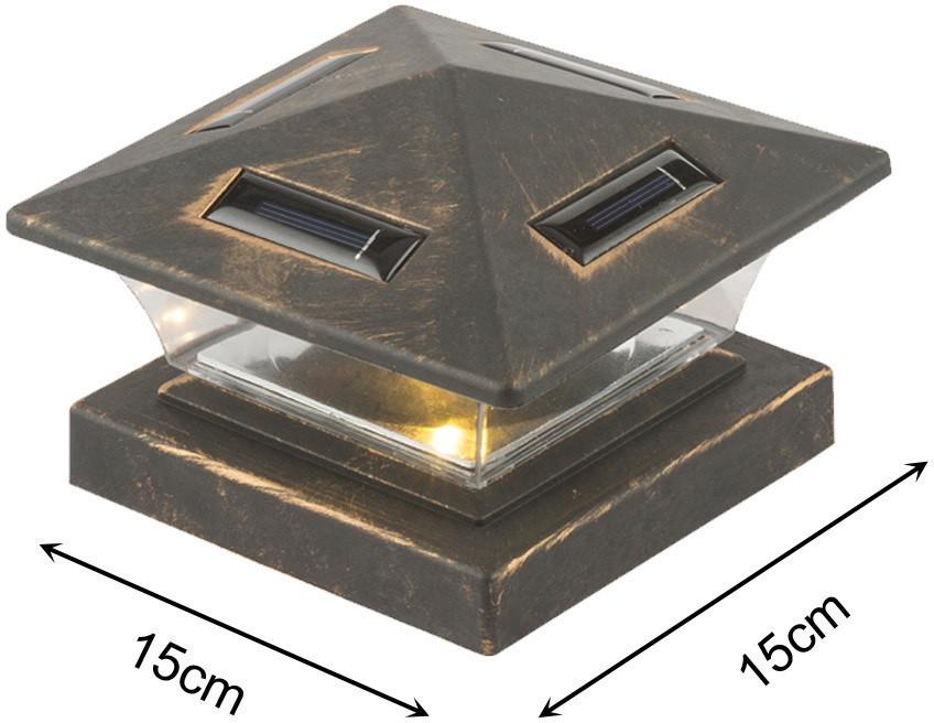 Globo LED Zaunpfosten-Solarleuchte schwarz (33039)
