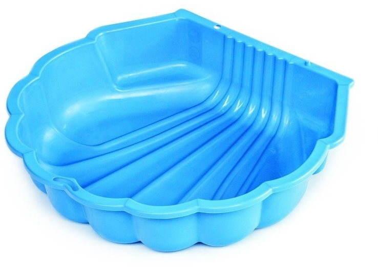 Ondis Sandkasten Wassermuschel mit Plane blau