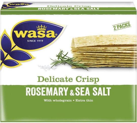 Wasa Delicate Crisp Knäckebrot Rosmarin & Meersalz (190g)