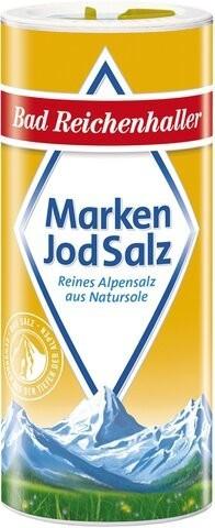 Bad Reichenhaller Marken-Jodsalz - reines Alpensalz aus Natursole (500g)