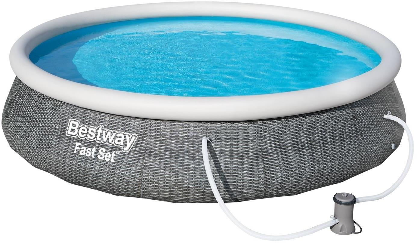 Bestway Fast Set Pool-Set 396 x 84 cm mit Filterpumpe (57376)