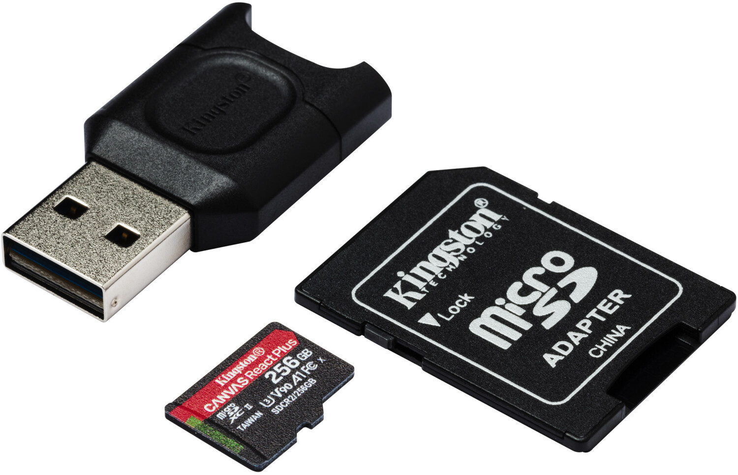 SanFlash Kingston 64GB React MicroSDXC for Zen Mobile X5 with SD Adapter 100MBs Works with Kingston