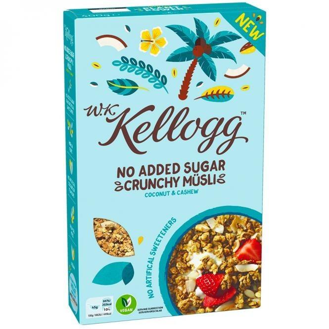 Kellogg's Crunchy Müsli mit Kokosnuss und Cashew (400g)