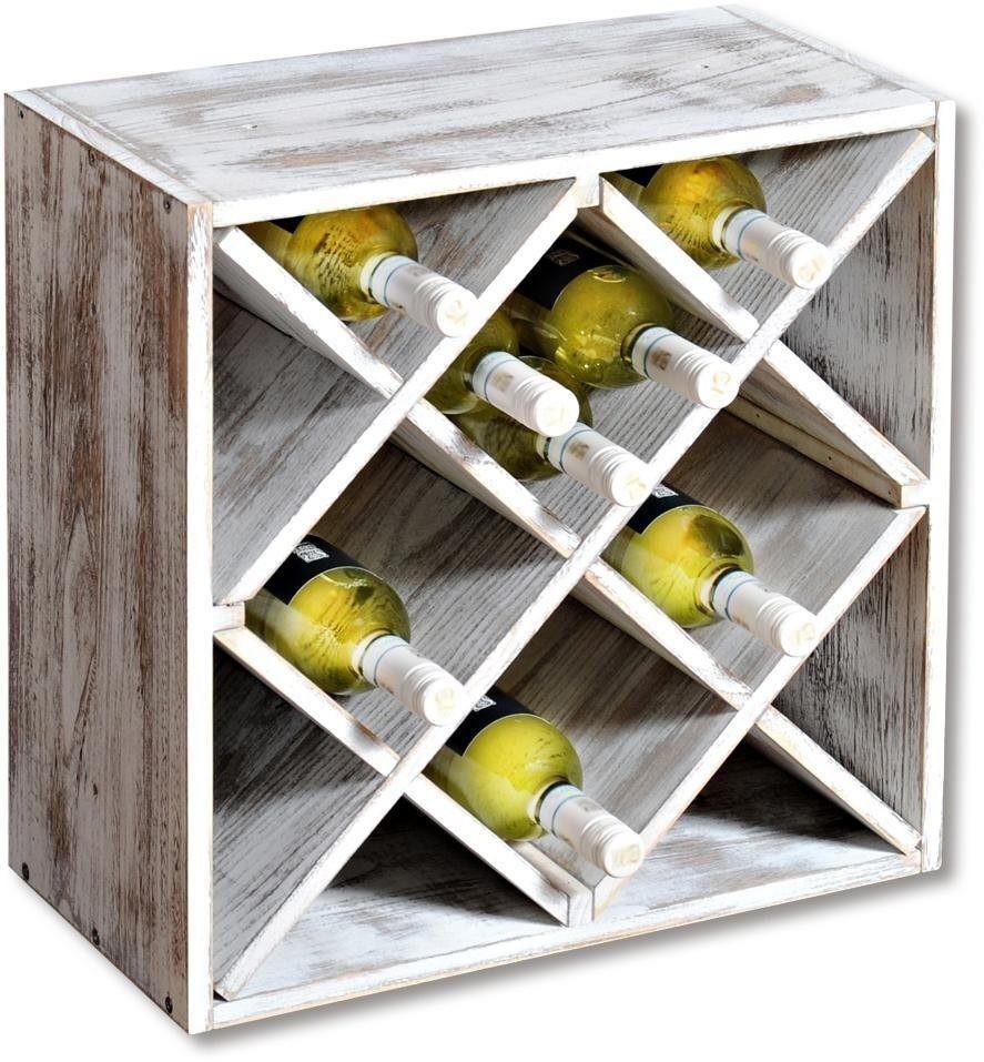 Kesper Weinflaschenregal, weiß
