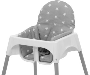 Polini Kids Sitzkissen für  Ikea Antilop Hochstuhl Sterne grau