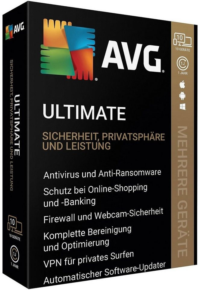 Image of AVG Ultimate 2020 (10 Devices) (1 Year)
