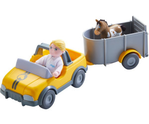 HABA Little Friends Tierarzt Auto mit Anhänger | Puppen