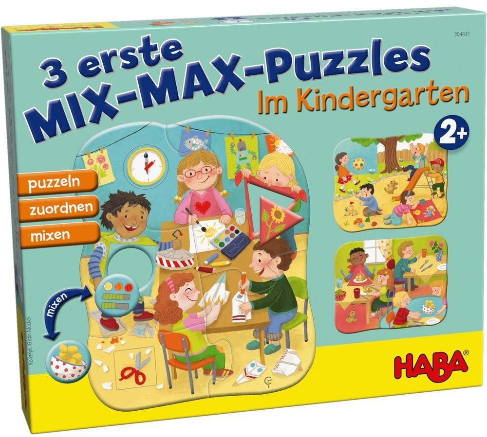 HABA 3 erste Mix-Max-Puzzles Im Kindergarten (304431)