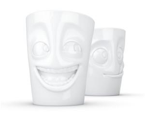FIFTYEIGHT 3D 3D Becher-Set Nr.3 witzig/lecker weiß
