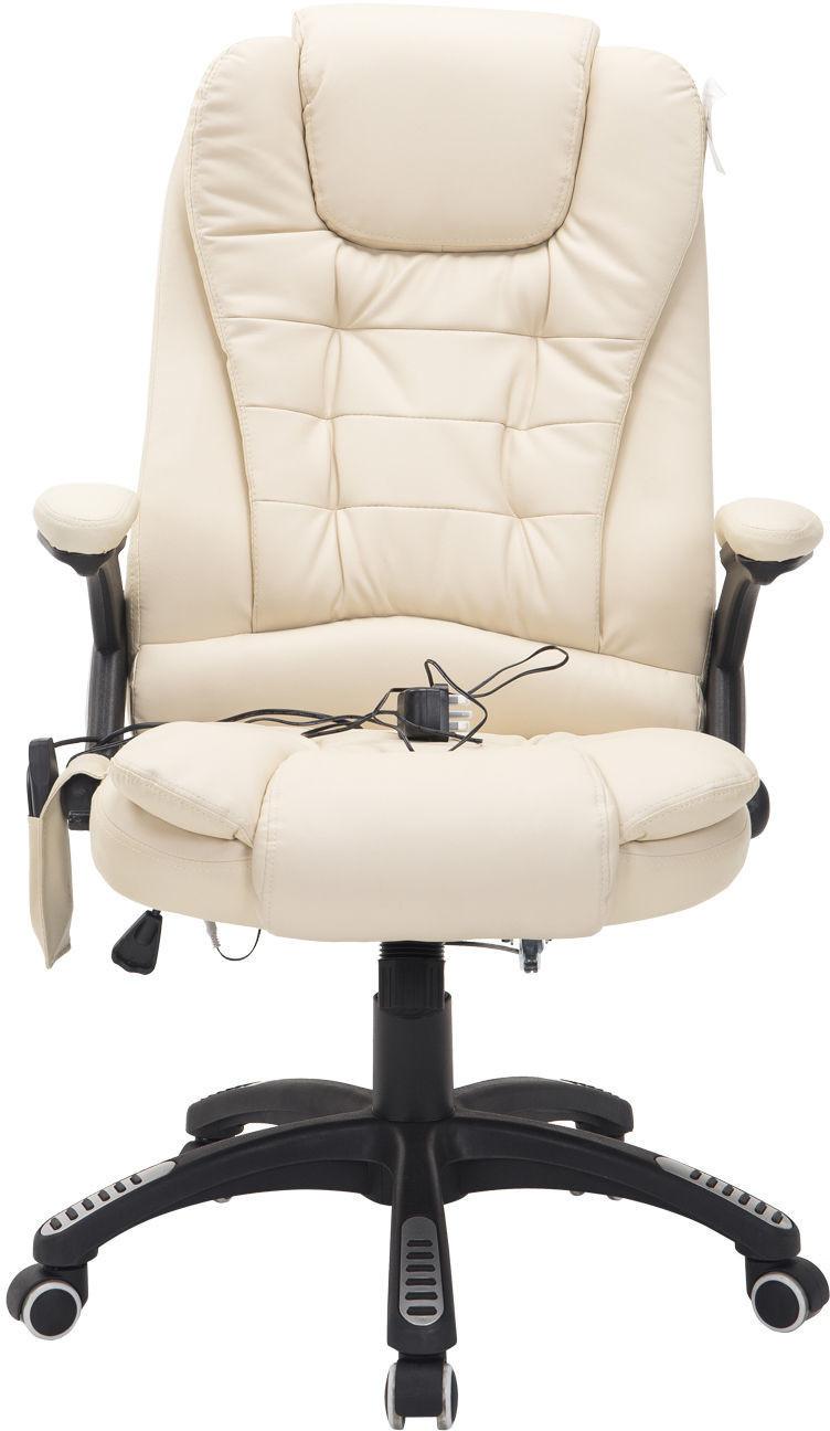 HomCom Bürostuhl Massagestuhl  creme