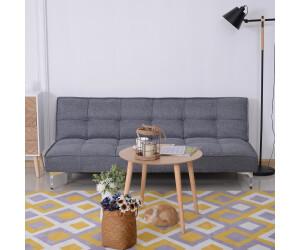 HomCom 3-Sitzer Schlafsofa  ausklappbar 175x83x74cm grau