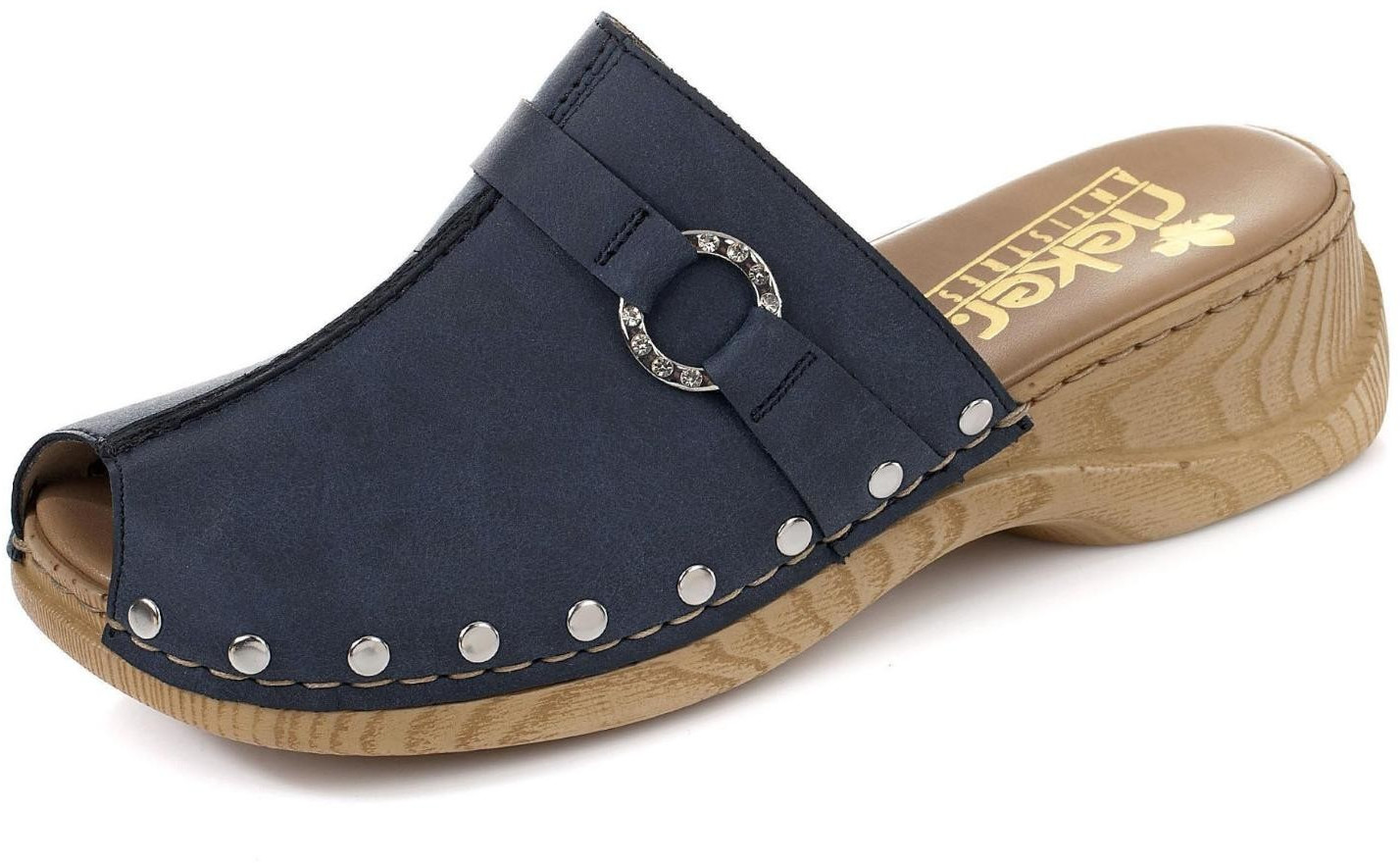 Rieker Women's Clogs (65062) blue