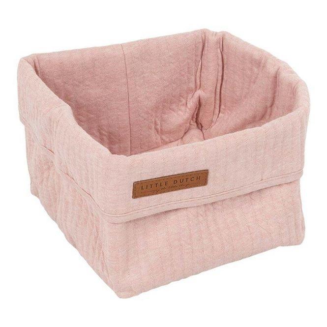 Little Dutch Wickeltisch-Körbchen Pure & Soft 15 x 15 cm pure pink