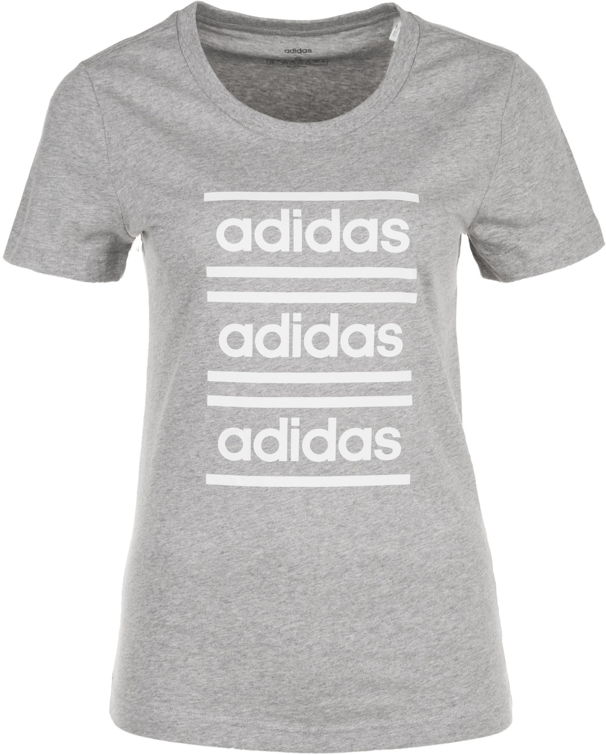 Image of Adidas Women Celebrate the 90s T-Shirt medium grey heather/white