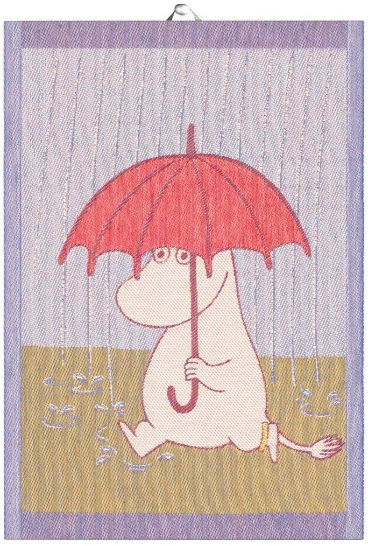 Ekelund Mumin Geschirrtuch 35 x 50cm Rain