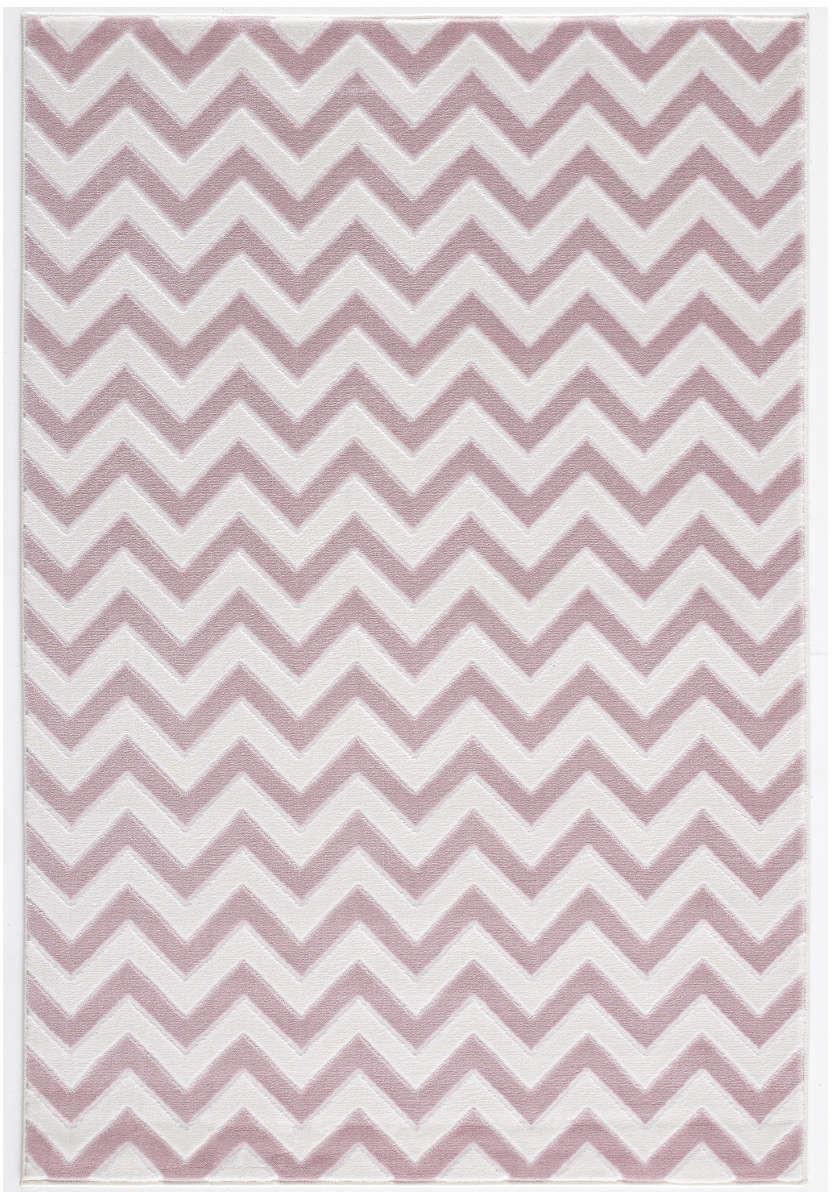Livone Happy Rugs Zick rosa/creme (120 x 180 cm)