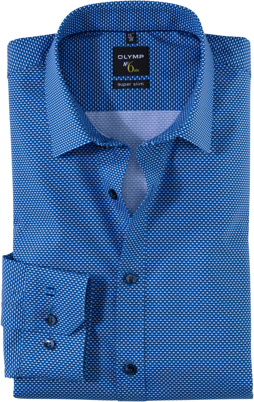 OLYMP No. Six Shirt Super Slim Urban Kent bleu (251054-11)