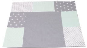 Image of Ullenboom Patchwork Changing Pad Cover mint/grey