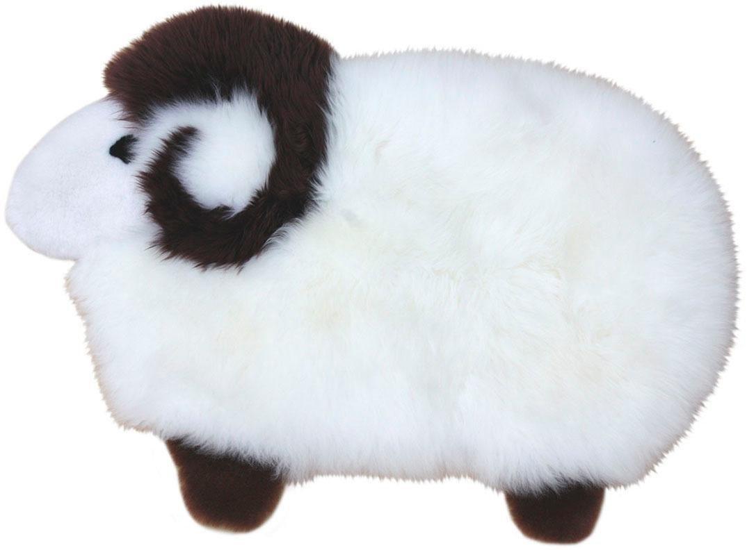Heitmann Felle Fellteppich Sheep 53 x 28 cm weiß