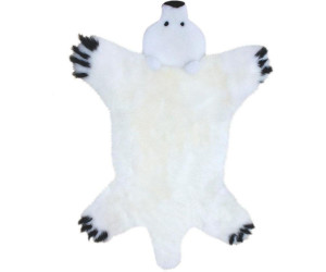 Heitmann Felle Fellteppich Bär 80 x 130 cm weiß