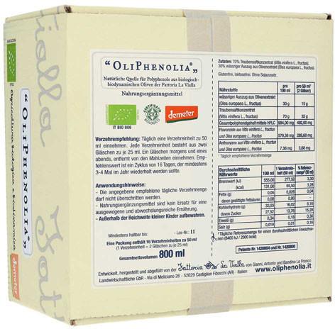 Fattoria La Vialla Oliphenolia Flüssigkeit (32x25ml)