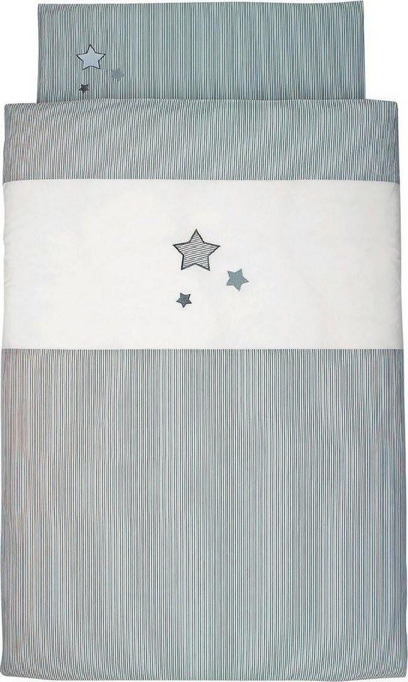 Sterntaler Bettwäsche 100 x 135 cm grau