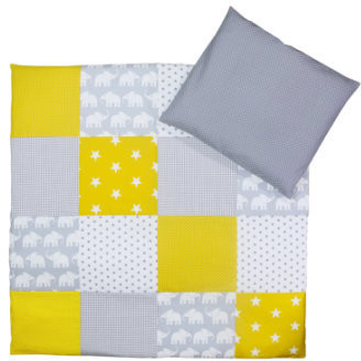 Image of Ullenboom Patchwork Bedding-Set elefant yellow