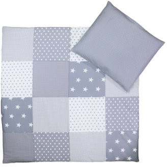 Image of Ullenboom Patchwork Bedding-Set grey stars
