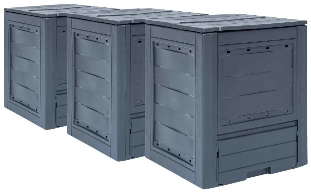 vidaXL Garden Composter Grey 780L