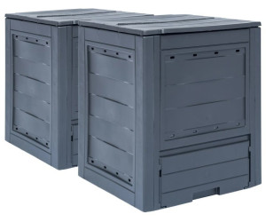 vidaXL Garden Composter 520 L Grey