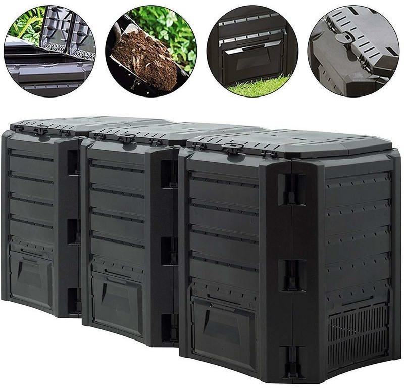 Prosperplast Garden Composter 1200L Black
