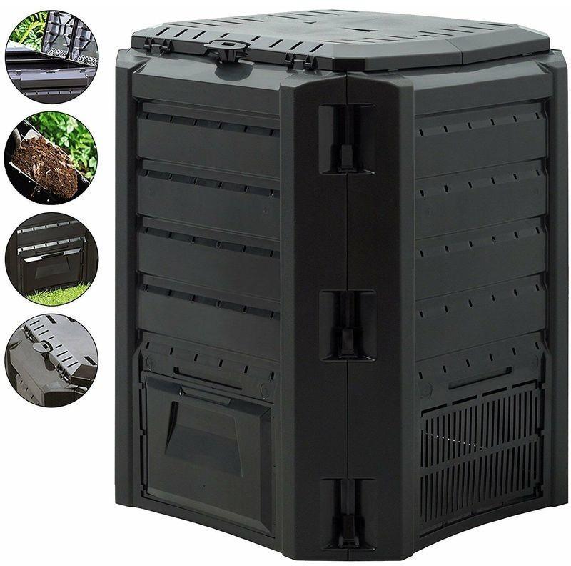 Prosperplast Garden Composter 380L Black