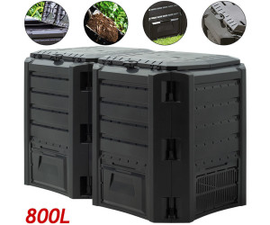 Prosperplast Garden Composter 800L Black