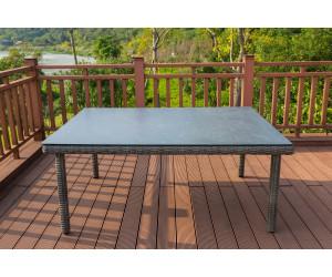 Outflexx Dining Tisch 180x120cm grau