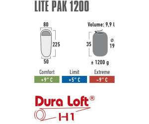 High Peak Schlafsack Lite Pak 1200 225 x 80//50 cm anthrazit//Blau